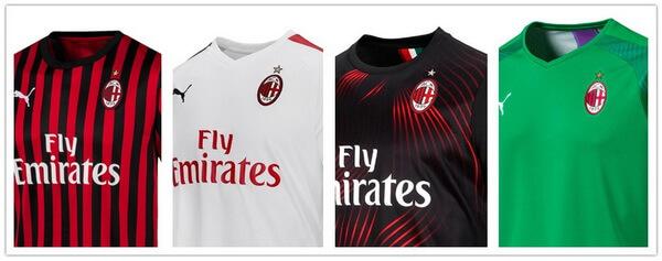 nuova maglia Milan 2020