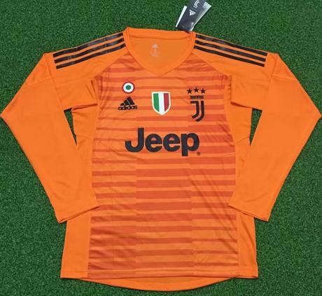 Nuova portiere maglia juve manica lunga arancione 2019